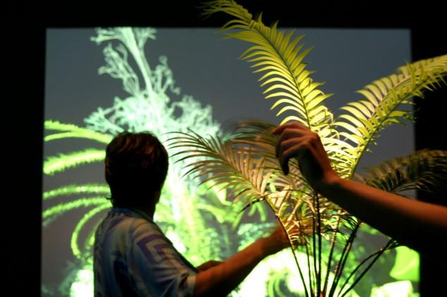 Christa Sommerer/Laurent Mignonneau: Interactive Plant Growing Installation (1993)